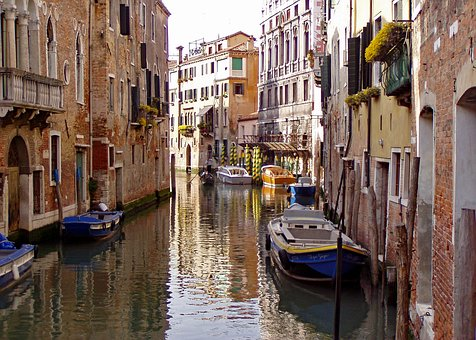 Venice, Italy, City, Channel, Water, Boats, Buildings