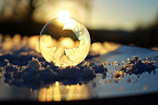 Soap Bubble, Frost Globe, Frost Blister, Ball, Ice