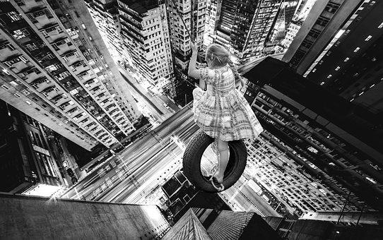 Skyscraper, City, Usa, America, Sw, Black And White