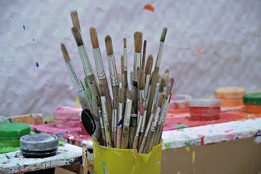 Brush, Color, Draw, Art, Paint, Stains, Atelier