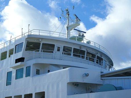 Ferry, Deck, Control, Room, Exterior, Top, Boat, Vessel