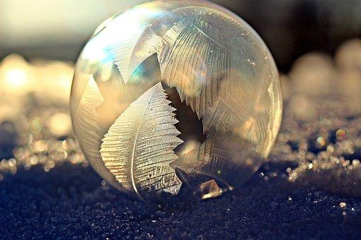 Soap Bubble, Frost Blister, Eiskristalle, Snow, Winter