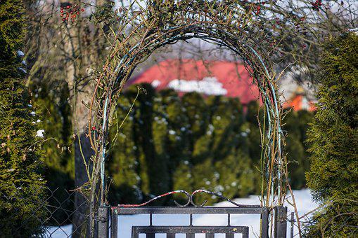 Gate, Gateway, An Ornamental Gate, Bow, Garden