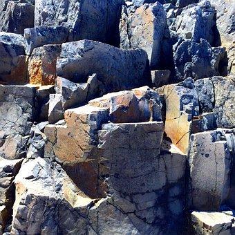 Basalt, Rock, Weathered, Cliff, Cracked