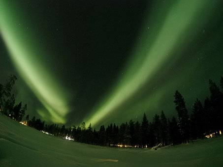 Northern Lights, Aurora Borealis, Lapland, Finland