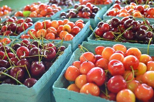 Cherry, Farmers Market, Food, Organic, Healthy, Fresh