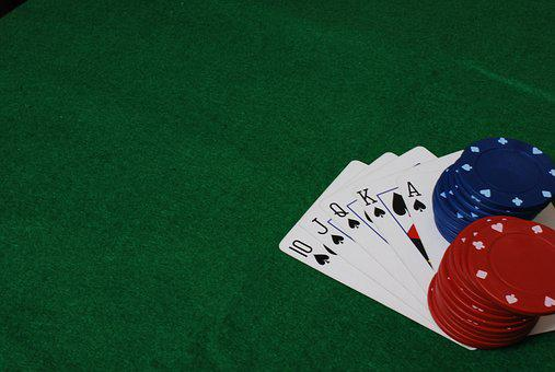Poker, Game, Cards, Chips, Entertainment, Green, Money