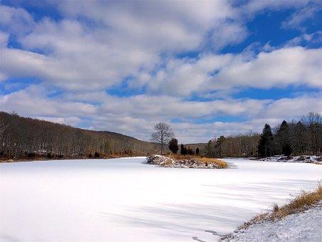 Lake, Snow, Frozen, Winter, Cold, Ice, White, Nature