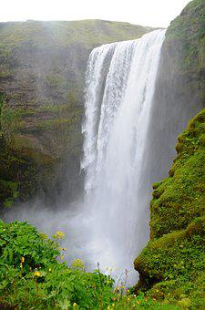Skogarfoss, Waterfall, Iceland, Nature, Landscape