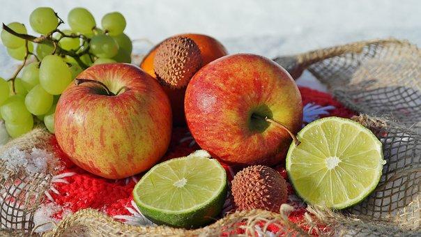 Fruit, Apple, Mandarin, Healthy, Deco, Fruits, Food