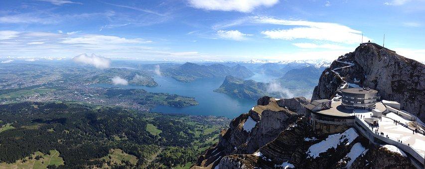 Luzern, Vierwaldstaedter See, Panorama, Switzerland