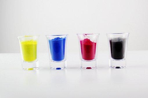 Four-color, Glass, Powder, Pigment