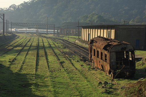 Railway, Trains, Old, Rusty, Decay, Railroad, Track
