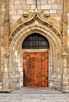 Church, Door, Church Door, Church Entrance, Old Stone