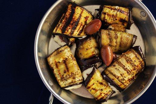 Grilled Vegetable Rolls, Eggplant