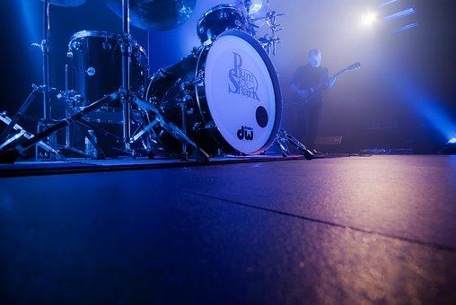 Drum, Battery, Live, Show, Amplifier, Guitar, Music