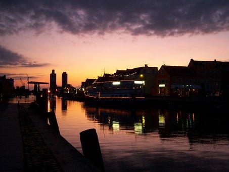 Port, Abendstimmung, Darkness, Night, Mystical, Mood