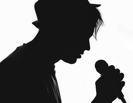 Silhouette, Musician, Vocalist, Microphone, The Artist
