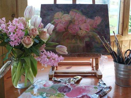 Art, Painting, Artist, Oil Paint, Paint, Brush