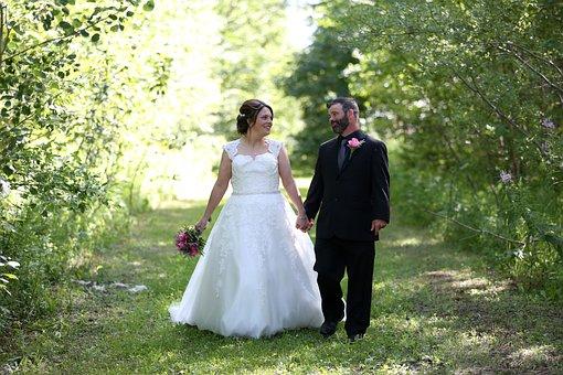 Bride, Groom, Wedding, Love, Couple, Woman, Man