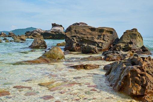 Nature, See, Ocean, Thailand, Asia, Rocks, Water, Clean