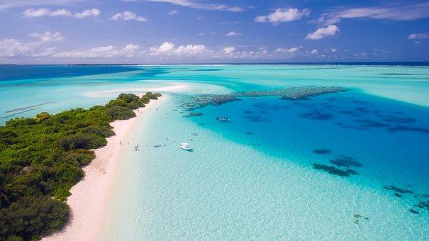 Maldives, Tropics, Tropical, Drone, Aerial, View, Sky