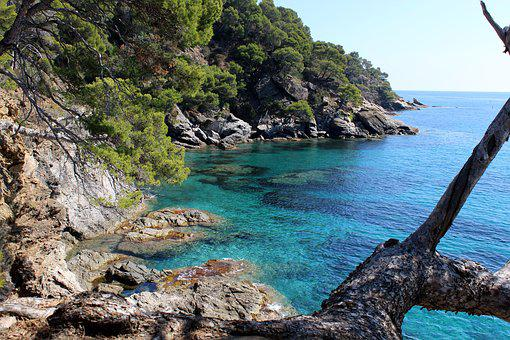 Mediterranean, Turquoise, Rock, Nature, Water, Side