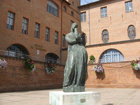 Statue, Penelope Of Bourdelle, Montauban, France