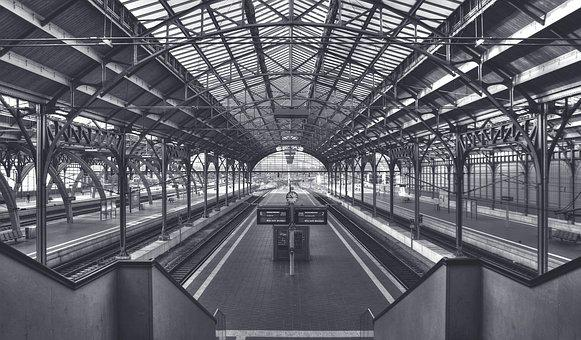 Railway Station, Station, Architecture, Train, Building