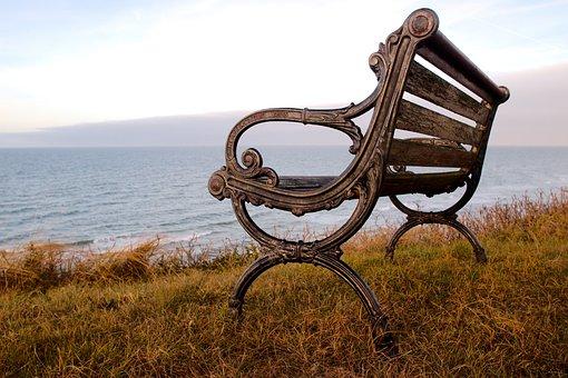 Bank, Sea, Ocean, Beach, Baltic Sea, Denmark, Nature