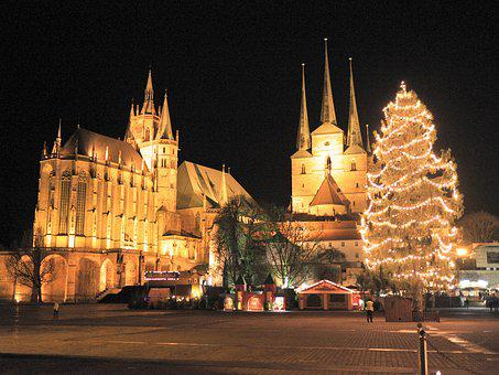 Erfurt, Christmas Market, Christmas, Advent, Dom