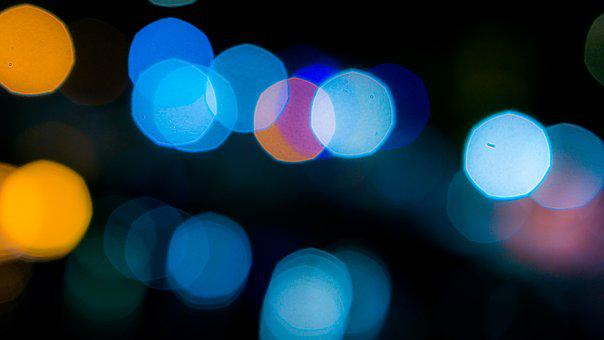 Bokeh, Blur, Blue, Yellow, Calm, Night, Light, Effect