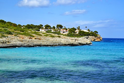 Cala Mandia, Mallorca, Balearic Islands, Spain, Sea