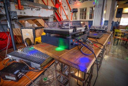Turntable, Mixer, Music, Dj, Disc, Club, Equipment