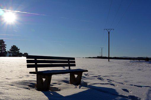 Snow, Landscape, Cold, Nature, Bank, Sun, Rays, Winter