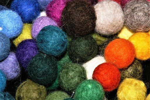 Felt, Balls, Tinker, Color