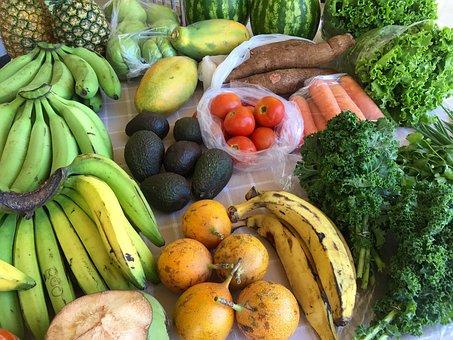 Produce, Fruits, Vegetables, Farmer's Market, Fresh