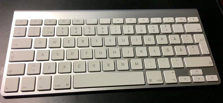 Keyboard, Typing On Keyboard, Write, Wireless