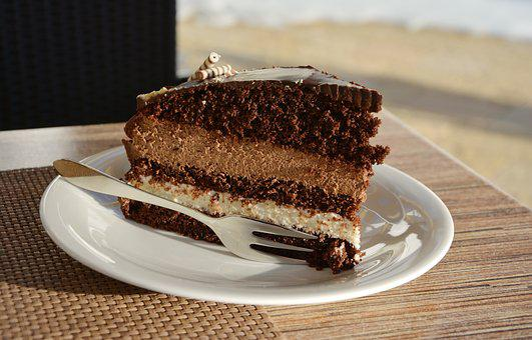 Cake, Chocolate Cake, Cafe, Bake, Cappuccino-cake