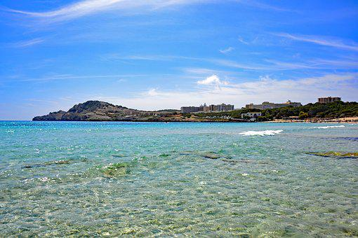Cala Agulla, Mallorca, Balearic Islands, Spain, Sea