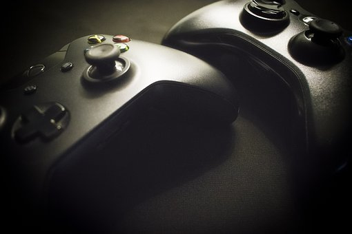 Xbox, Remote Control, Console, Game, Black, Videogame