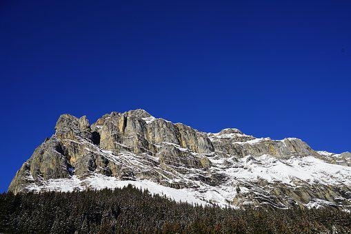Mountain, Rock Wall, Bire, Bernese Alps