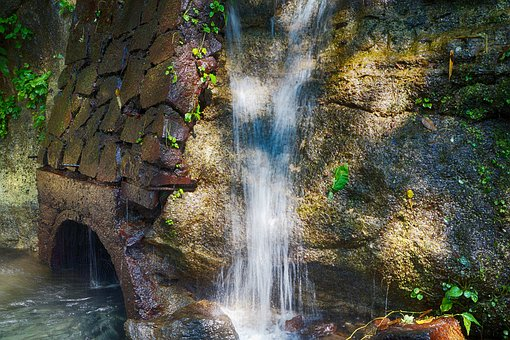 Waterfalls, Rivers, Channels, Nature, Leaves, Green