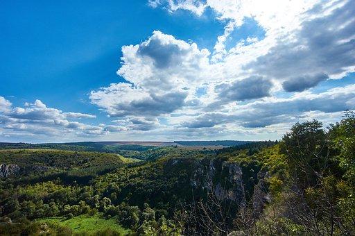 Natural Park, Ruse Lom, Orlova Chuka, Cumulus Clouds