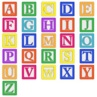 Baby Blocks, Alphabet, Abc, Letters, Colourful, Block