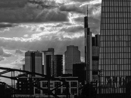 Skyscrapers, Skyscraper, Bridge, Downtown, City