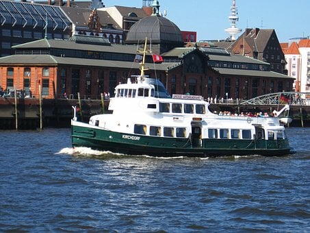 Hamburg, Harbor Cruise Ship, Ms Kirchdorf