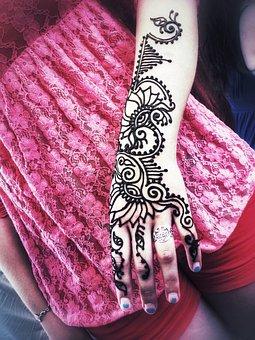 Henna, Artist, Girl, Mehndi, Decorative, Indian