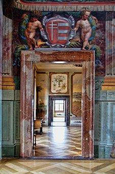 Concluded Trojans, Door, Passage, Ornaments, Prague