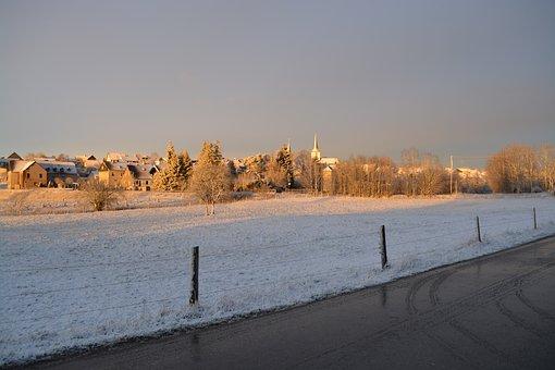 Argenthal, Sachsen, Rlp, Hunsrück, Village, Meadow